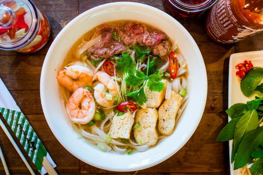 Vietnamese Pho bowls at One New Change