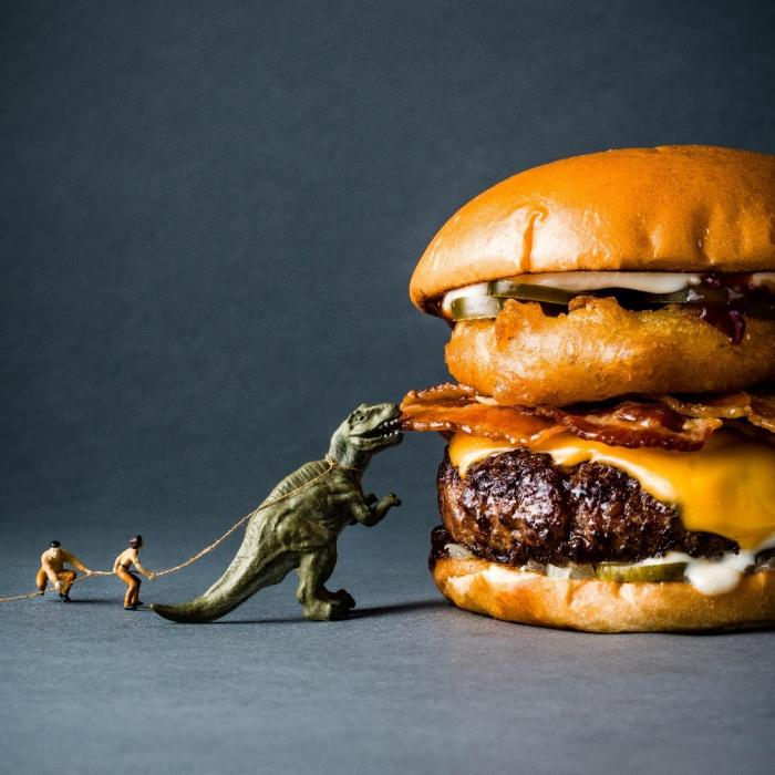 One New Change | Byron Hamburgers | T Rex Burger
