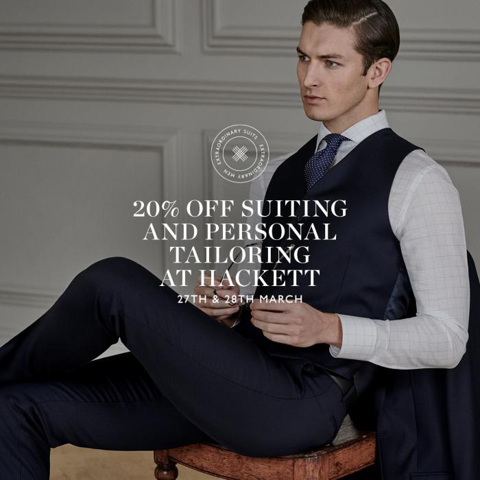 One New Change | Hackett | Tailoring Event | 20% Off