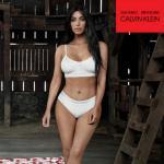 Kim Kardashian modeling for Calvin Klein