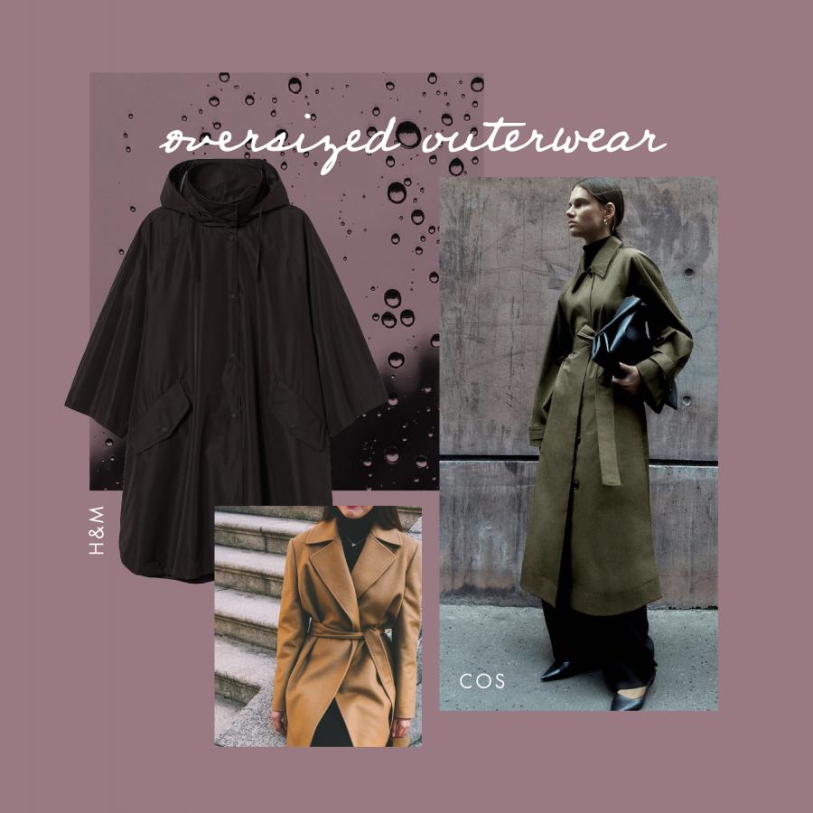Autumn trends oversized outerwear