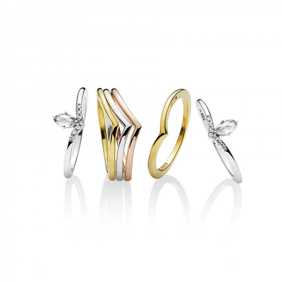 534c0d761 Adorn your fingers wtih the feminine and delicate Shining Wish and Classic  Wish rings. Stack them vertically or add some edge to your fingertips by  wearing ...